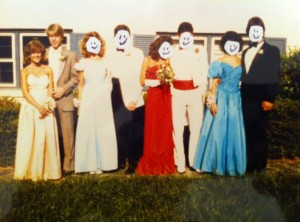 HHS Prom,  May 1986.  (I have to hide my friends faces or they will probably never speak to me again.)